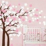 Peach tree decorated the baby's room free vector download for print or laser engraving machines