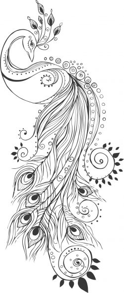 Peacock with henna art file cdr and dxf free vector download for laser engraving machines