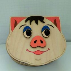 Pig head box file cdr and dxf free vector download for Laser cut CNC