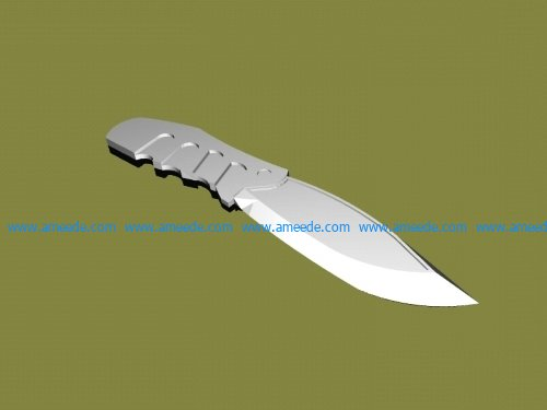 Plastic knife file stl and mtl obj vector free 3d model download for CNC or 3d print