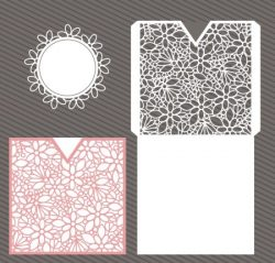 Pretty on elegant floral file cdr and dxf free vector download for Laser