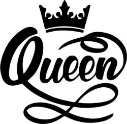 Queen Crown file cdr and dxf free vector download for print or laser engraving machines
