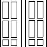 Rectangular and square doors file cdr and dxf free vector download for CNC cut