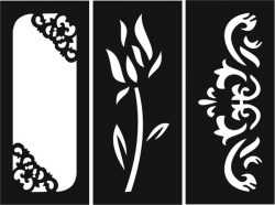 Rectangular decorative motifs file cdr and dxf free vector download for Laser cut CNC