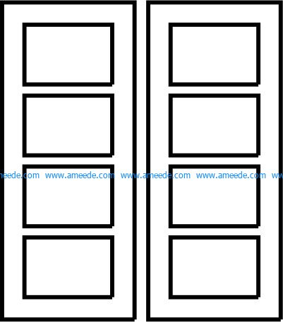 Rectangular door pattern file cdr and dxf free vector download for CNC cut