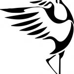 Red-headed crane icon file cdr and dxf free vector download for print or laser engraving machines