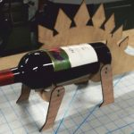Rhino shaped wine bottle holder file cdr and dxf free vector download for Laser cut CNC