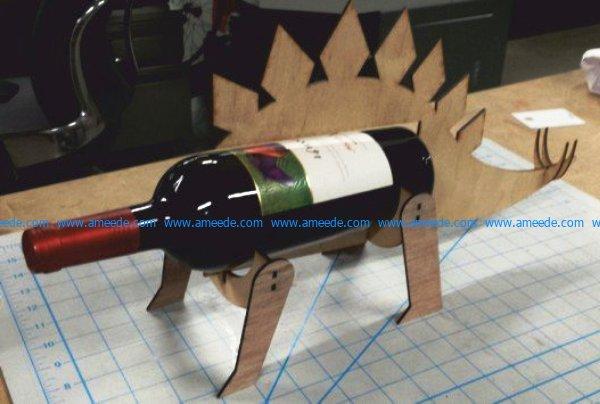 Stegosaurusshaped wine bottle holder file cdr and dxf free vector download for Laser cut CNC