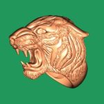 Ring Tiger 3d file stl and bmp free vector download for CNC