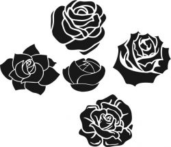 Romantic rose pattern file cdr and dxf free vector download for laser engraving machines