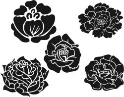 Rose pattern and peony file cdr and dxf free vector download for laser engraving machines