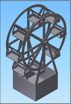 Rotating wheel display shelf file stl and mtl obj vector free 3d model download for CNC or 3d print