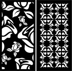 Sample partition screens with roses file cdr and dxf free vector download for Laser cut CNC