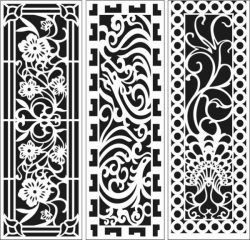 Screens and Partitions for Home and Office file cdr and dxf free vector download for Laser cut CNC