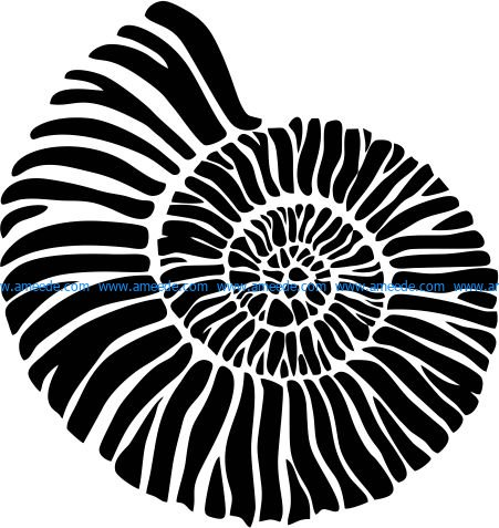 Sea snail icon file cdr and dxf free vector download for print or laser engraving machines