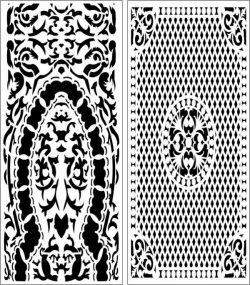 Set of arabic style baffles file cdr and dxf free vector download for Laser cut CNC