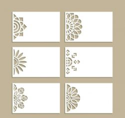 Set of decorative Invitation cards file cdr and dxf free vector download for Laser