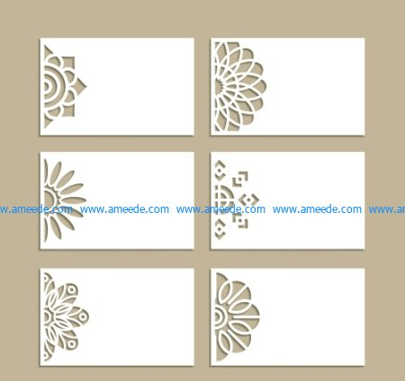 Set Of Decorative Invitation Cards File Cdr And Dxf Free