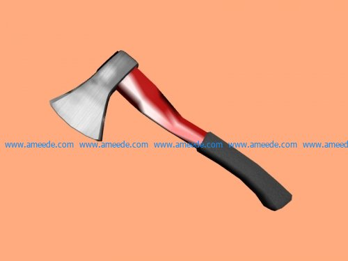 Short axe file stl and mtl obj vector free 3d model download for CNC or 3d print