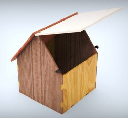 Simple house box file cdr and dxf free vector download for Laser cut