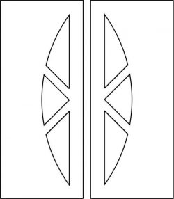 Simple interior door vector template file cdr and dxf free vector download for CNC cut