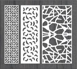 Simple stone wall partition design file cdr and dxf free vector download for Laser cut CNC