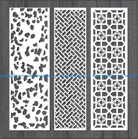 Simple vertical column bulkhead design file cdr and dxf free vector download for Laser cut CNC