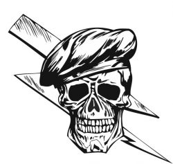 Skull and broken glass file cdr and dxf free vector download for print or laser engraving machines