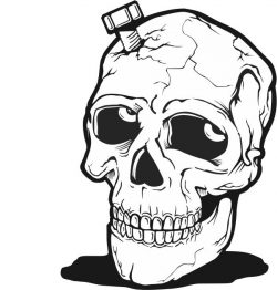 Skull with screws file cdr and dxf free vector download for print or laser engraving machines
