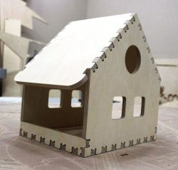 Small house assembly model file cdr and dxf free vector download for Laser cut CNC