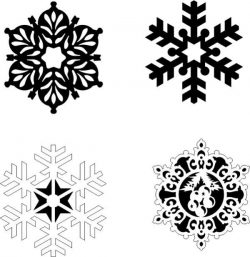 Snowflakes on a pine tree file cdr and dxf free vector download for Laser