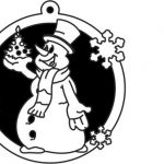 Snowman decorated Christmas tree  file cdr and dxf free vector download for Laser cut Plasma file Decal