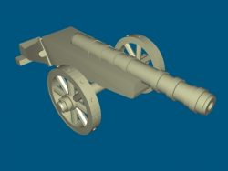 Spanish cannon file stl and mtl obj vector free 3d model download for CNC or 3d print