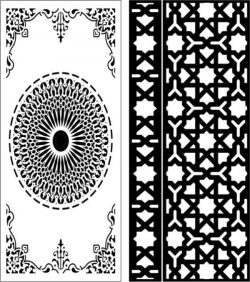 Star baffles and Islamic circle file cdr and dxf free vector download for Laser cut CNC