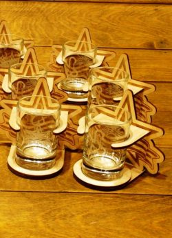 Star shaped water cup file cdr and dxf free vector download for Laser cut CNC