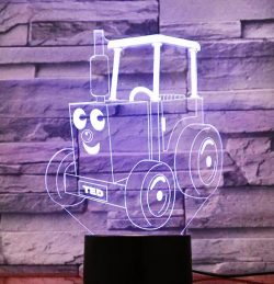 Ted car 3D illusion led lamp  file cdr and dxf free vector download for laser engraving machines