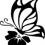The butterfly is perched on the flower file cdr and dxf free vector download for printers or laser