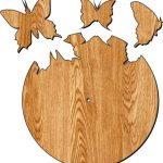 The clock is shaped like butterflies flying out free vector download for Laser cut Plasma