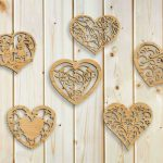 The heart shaped decorative pattern file cdr and dxf free vector download for Laser cut plasma