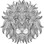 The lion's head design file cdr and dxf free vector download for print or laser engraving machines