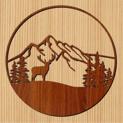 The moose holds the forest file cdr and dxf free vector download for Laser cut CNC