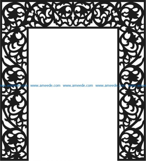 The pattern of the partition of the altar file cdr and dxf free vector download for Laser cut CNC