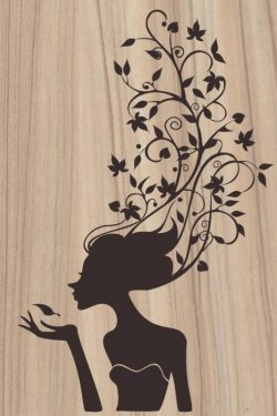 The teenage girl has her hair covered with vines file cdr and dxf free vector download for Laser cut plasma