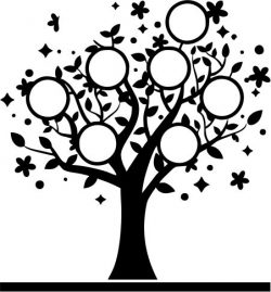 The tree has the names of family members free vector download for Laser cut plasma