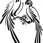 Ticket art two parrots file cdr and dxf free vector download for printers or laser engraving machines