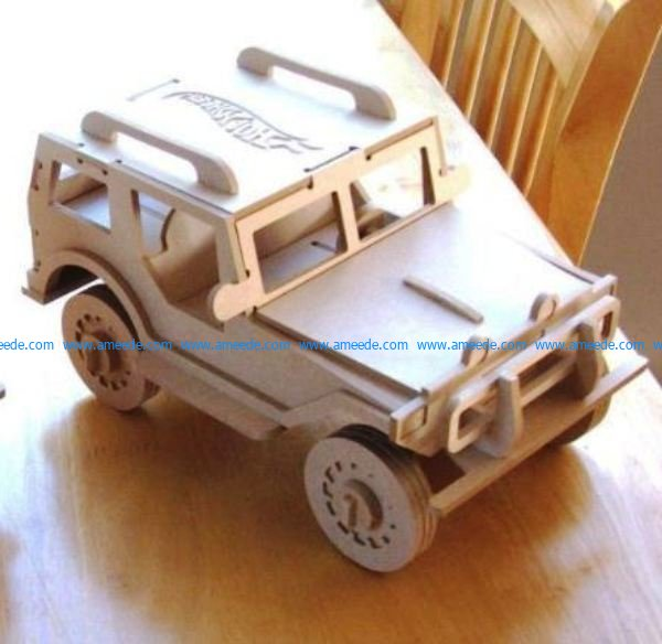 Tiger bulletproof vehicle assembly model file cdr and dxf free vector download for Laser cut CNC