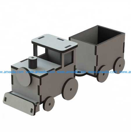 Toy train for babies file cdr and dxf free vector download for Laser cut CNC