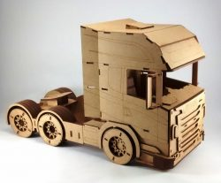 Tractor truck file cdr and dxf free vector download for Laser cut CNC