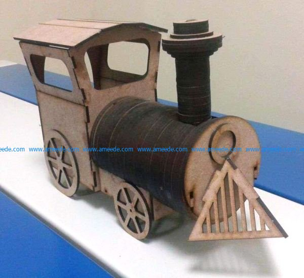 Train assembly model file cdr and dxf free vector download for Laser cut CNC