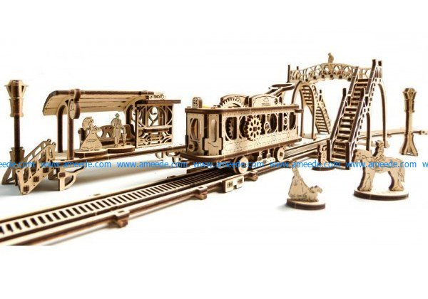 Train model file cdr and dxf free vector download for Laser cut CNC